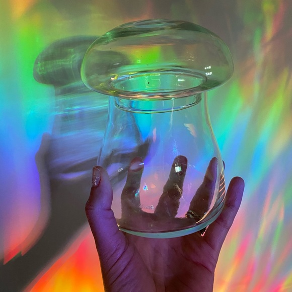 Vintage Glass Mushroom Canister